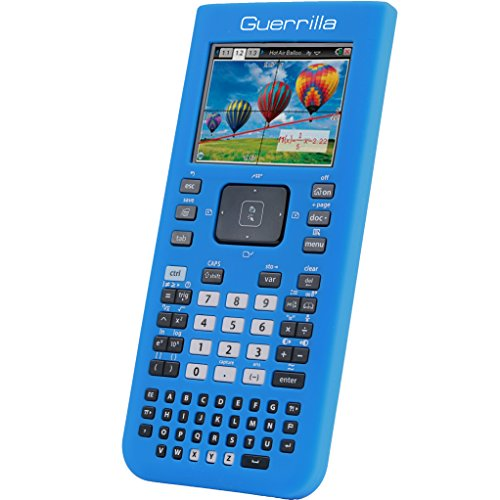 Guerrilla Blue Silicone Case for Texas Instruments TI Nspire Cx & CX Cas Graphing Calculators