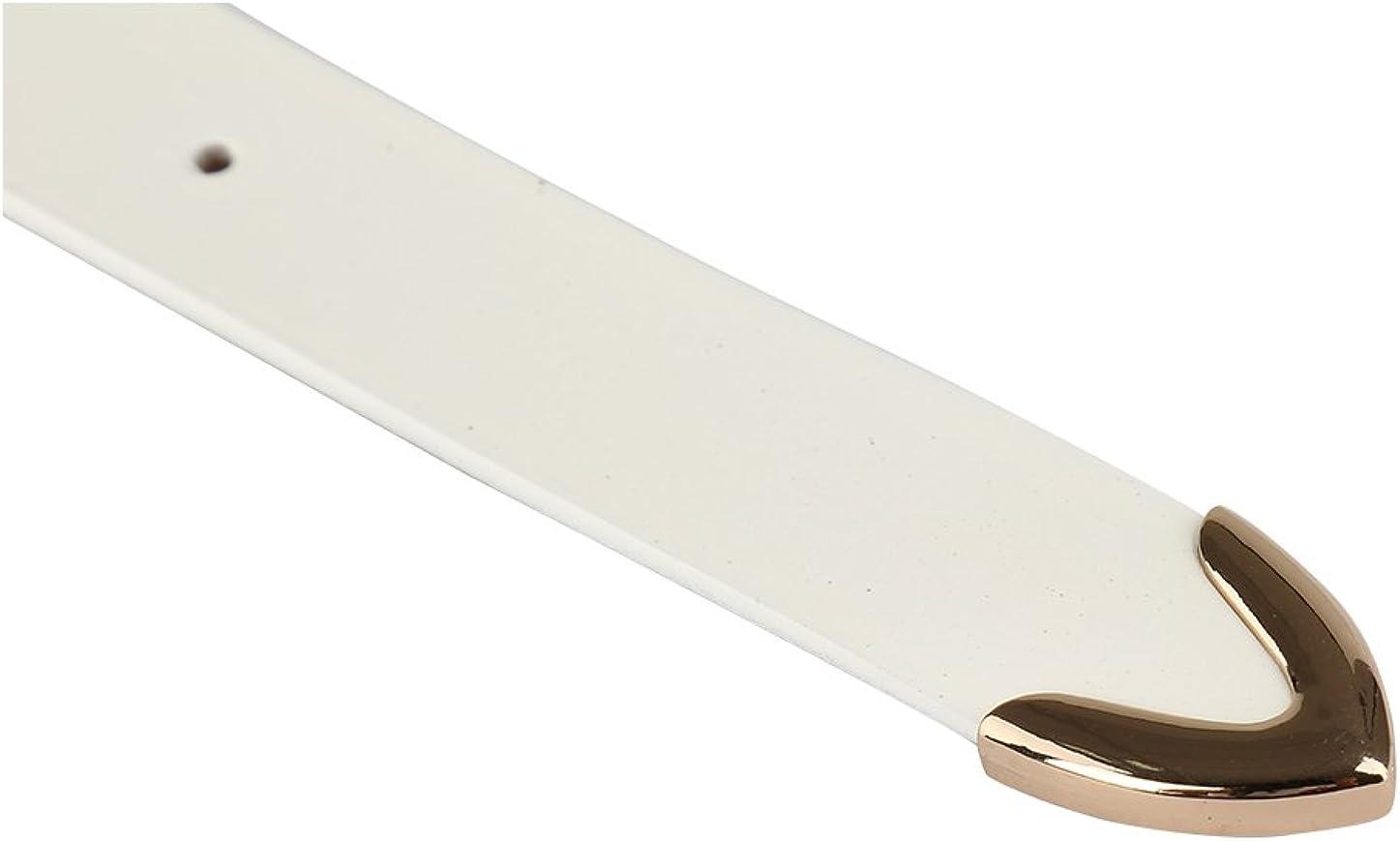 uxcell Women Skinny Belt Metal Side Imitation Leather Pin Buckle 1 1//8