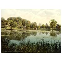 Arundel, Swanbourne Lake - English Photochrome - EPC016 Superior Canvas A2 Size