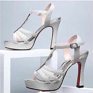 LGK&FA Der Sommer Damen Sandalen High-Heeled Sandalen Schuhe mit dicken Sommer Sommer mit einem All-Match Schuhe