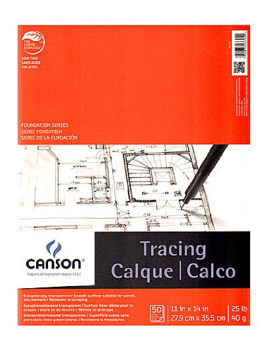 Canson Tracing Pad 11 in. x 14 in. [PACK OF 2 ] by Canson