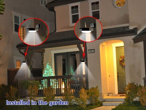 Plafoniere Da Esterno Con Sensore Di Movimento : Anself led yard parete della casa luce solare di