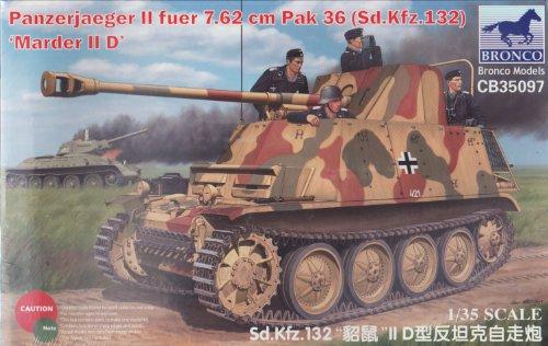BNC35097 1:35 Bronco Marder IID Sd.Kfz.132 7.62cm PaK 36 Panzerjager MODEL KIT Iid Kit