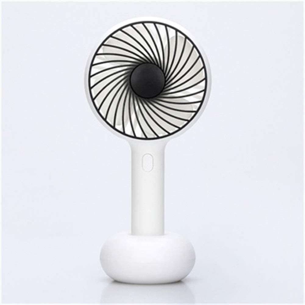Convenient Desktop Electric Fan Portable Handheld USB Rechargeable Battery Air Cooler Ventilator Mini Table//Third Gear for Indoor//Outdoor Travel Durable Color : Pink