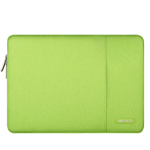 MOSISO Laptop Sleeve Bag Compatible 13-13.3 Inch MacBook Pro, MacBook Air, Notebook Computer, Vertical Style Water Repellent Polyester Protective Case Cover with Pocket, Greenery