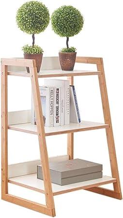 XYZX Estante para Libros Soporte Suelo Bambú Bastidor Portátil Escalera Organizador Libros Artísticos Estantes del Balcón del Dormitorio de La Sala de Estar: Amazon.es: Hogar