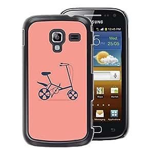 A-type Arte & diseño plástico duro Fundas Cover Cubre Hard Case Cover para Samsung Galaxy Ace 2 (Pink Hipster Counter Culture)