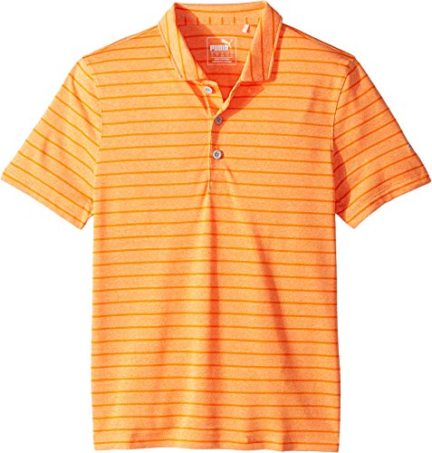 - PUMA Golf Kids Boy's Rotation Stripe Polo (Big Kids) Vibrant Orange Small