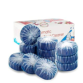(12-Pack) Automatic Toilet Bowl Bathroom Cleaner - Toilet Bowl Cleaner Tablets with New Formula (Blue)
