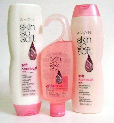 Avon Skin So Soft Soft and Sensual 3-Pack (Avon Skin So Soft Soft And Sensual)