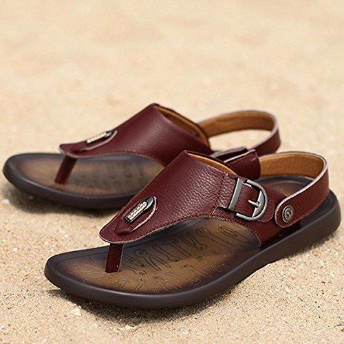 Pinuo 2016 Estate Mens Sandali Di Vibrazione Alla Moda Coreana Sandali E Pantofole Da Spiaggia Scivolare Marrone Scuro