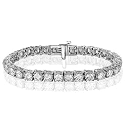 White Gold Natural Diamonds Tennis Bracelet