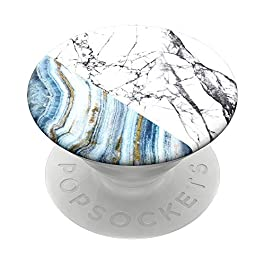 PopSockets Swappable Expanding Stand and Grip for Smartphones and Tablets – Aegean Marble