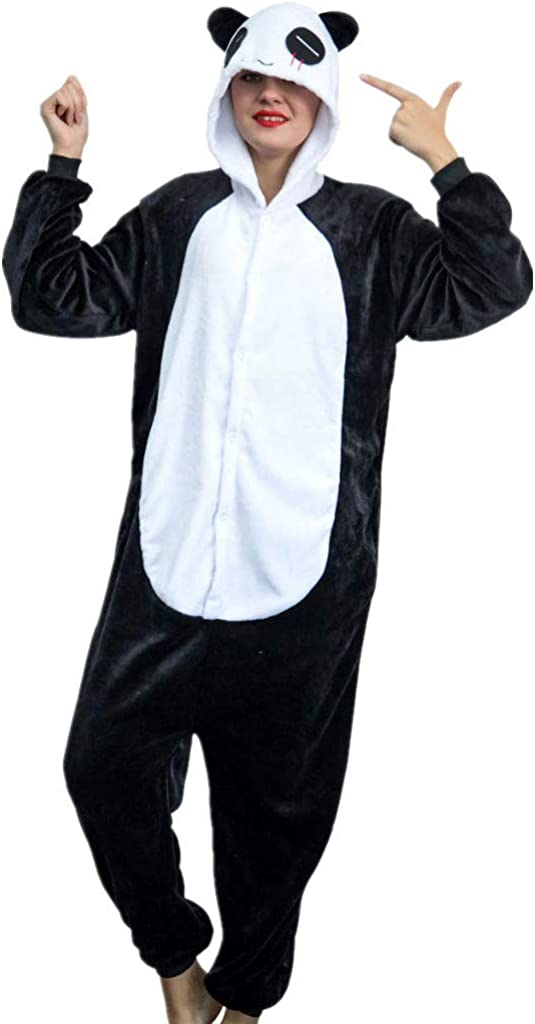 iSZEYU Adult Onesie Unicorn Pajamas for Women or Men Cosplay Halloween Costumes