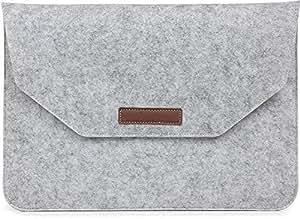 Touch Bar Grey Felt Laptop Sleeve Case Cover Bag for Apple MacBook Pro 15 15.4 Inch [duplus]