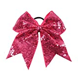 Best Deal NEW Fashion Bling Sequins Cheer Bow With Elastic Band Girls Hair Accessories For Children Gift 24Pcs/Lot 14