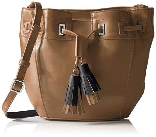 Bag Dark Camel - Nine West Take a Lift Crossbody Bucket Bag, Dark Camel/Black