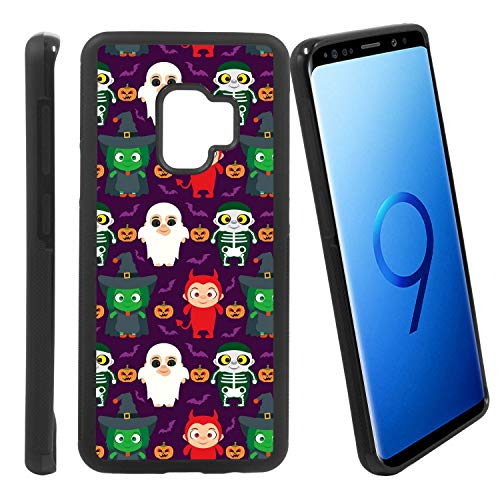 [Funny Kids in Halloween Costume] Compatible with Samsung Galaxy S9/ G960U/G960W, Non-Slip Soft Rubber Side & Hard Back Case Cover Shell Skin ()