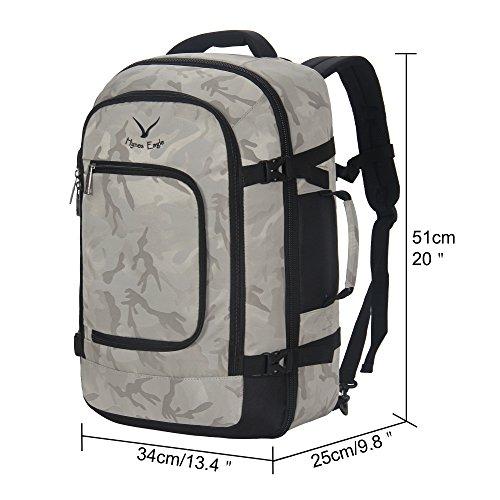 99df30711 Hynes Eagle Travel Backpack 40L Flight Approved Carry on Backpack, Light  Camo by Hynes Eagle