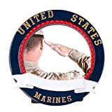 Marines Picture Frame Personalized Christmas Ornament