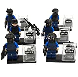 6pcs/lot Kazi 98507 Swat Army Police City Officer Minifigures Building Blocks Sets Model Bricks Toys Compatible with Lego