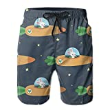 Mens Funniest Shorts/Space Bunny And Its Carrot Rocket