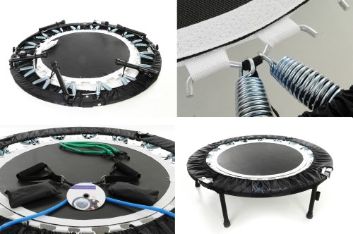 MaXimus Pro Quarter Folding Mini Trampoline Includes DVD Bar Bag Bands Weights by MXL MaXimus Life (Image #3)