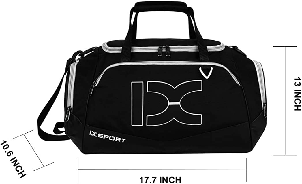 40L 18 INCH Sports Duffle Bag with Shoes Compartment /& Wet Pocket for Men Women Gym Bag