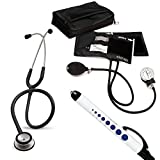 3M Littmann Classic Ii Se Stethoscope Prestige Medical Adult Sphygmomanometer With Case And Quick Lites Penlight Kit Black