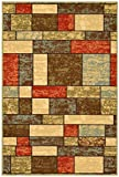 Ottomanson Ottohome Collection Contemporary Boxes Design Machine-Washable Non-Slip Area Rugs, 8'2''W x 9'10''L, Multicolor