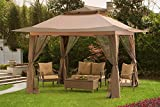 Sunjoy L-GZ849PST-A1-A 13' x 13' Pop-Up Canopy with Carrying Bag, Brown
