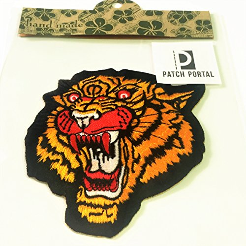 (Patch Portal The Roaring Tiger Head Patches Iron On Embroidered 4