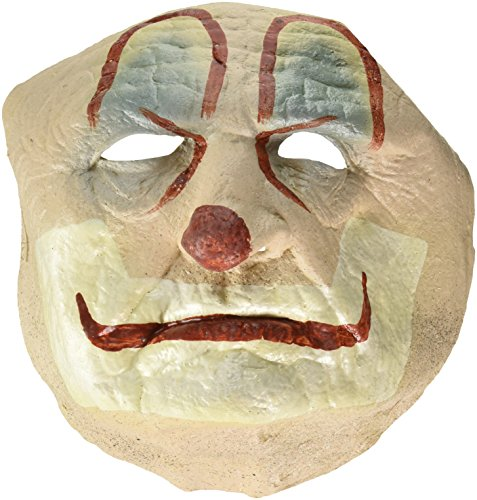 Trick or Treat Studios Men's Old Clown Face Mask, Multi, One Size (Old Man Mask For Sale)