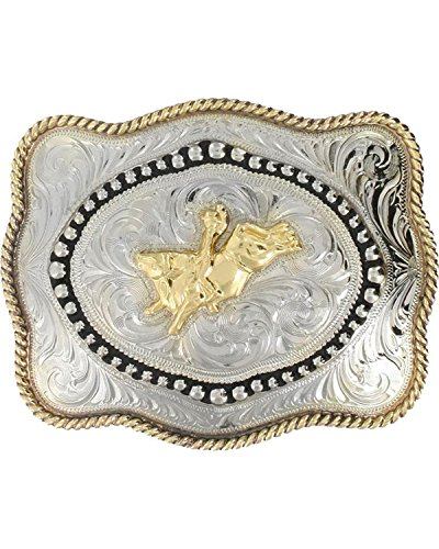 Cody James Men's Bull Rider Belt Buckle Silver One Size
