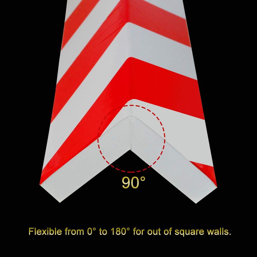 protezioni per angolo per la colonna del garage BUZIFU Schiuma per colpi 2 unit/à protezioni per paraurti Rosso e strisce bianche per qualsiasi persona che voglia evitare il graffio pauroso