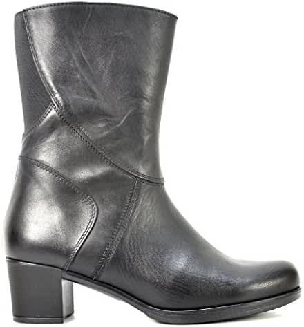 Ogswideshoes Sabrina Col Tacco Leather Boots Extra Wide ,C Width, 3e Width