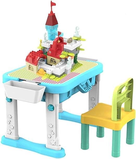 WJMLS Juego de mesas de Actividades 4 en 1 Mesa de Juegos para niños Mesa de Juegos y Almacenamiento de Agua para niños pequeños Niños Niños Niñas: Amazon.es: Hogar