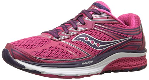 Saucony Women's Guide 9 Running Shoe, Pink, 6.5 M US by Saucony