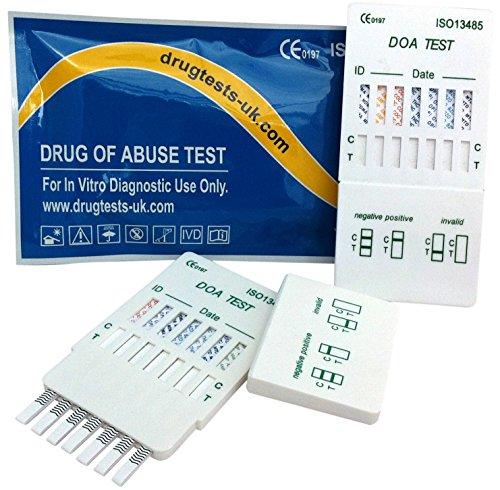 3 x Drogenschnelltest Multiscreen 7 - Bestimmung von 7 Drogenarten mit einem Test! - Alle Produkte sind CE gekennzeichnet