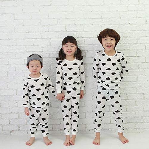 OllCHAENGi Toddler Kids Boys Girls Cotton Pajama Set Long Sleeve 10M-13Y Dinosaur