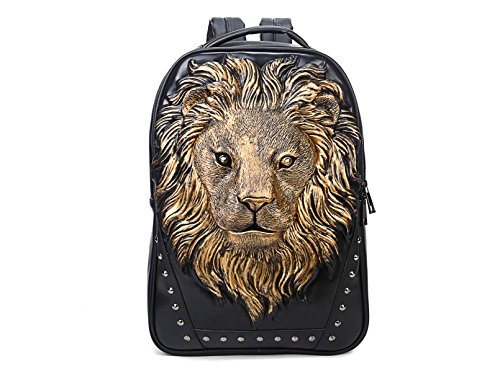 Price comparison product image Berchirly 3D Lion Head Casual Daily Use Backpack Shoulder Hiking Travel Bag