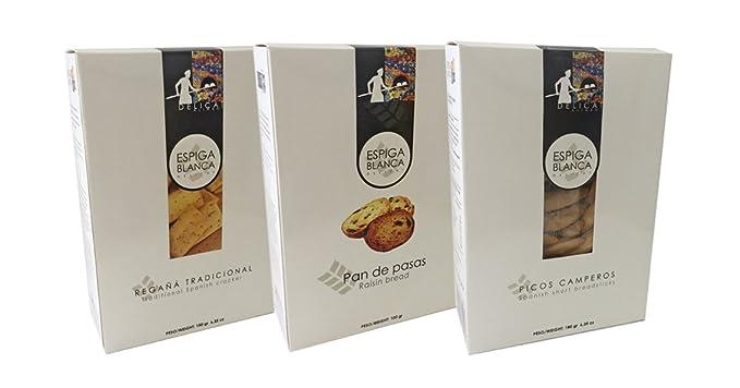 ESPIGA BLANCA - Pack Variado 3: Pan De Pasas Caja Eb - Picos ...