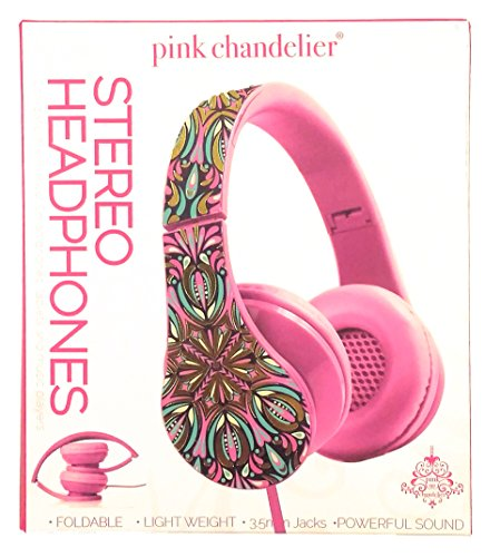 Pink Chandelier Foldable Stereo Headphones
