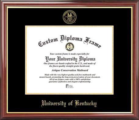 - Laminated Visuals University of Kentucky Wildcats - Embossed Seal - Mahogany Gold Trim - Diploma Frame