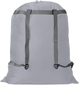 Extra Large Laundry Bag [26''x34''] Sturdy rip and tear resistant polyester material with drawstring closure. Ideal machine washable laundry bags for college, dorm and apartment dwellers-grey