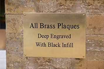 Personalised Solid Brass Plaque Memorial Bench Sign Plate Deep 4u0026quot; X  2u0026quot; Engraved