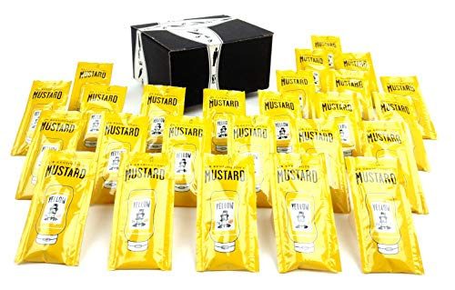 Sir Kensington's Mustard, 18 Gram Packets in a BlackTie Box (Pack of 25, Approximately 1 lb) -