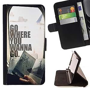 Jordan Colourful Shop - FOR Sony Xperia Z1 L39 - Don't give up in life - Leather Case Absorci¨®n cubierta de la caja de alto impacto