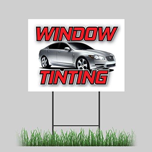 "18""x24"" Window Tinting Yard Sign Car Truck SUV Dark Film Limo Retail Store Sign"