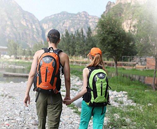 LQABW Los Hombres De Hombro Impermeable Del Recorrido Al Aire Libre Del Alpinismo Y Ultraligero Mujeres Universal Morral Del Alpinismo 35L,DarkBlue Orange